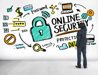Online Security Protection Internet Safety Business Concept