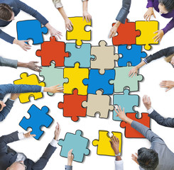 Group Business People Forming Teamwork Concept
