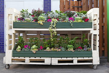 Flowers pallet