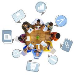 Brainstorming Discussing Planning Teamwork Variation Concept