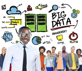 Diversity People Big Data Leadership Team Concept