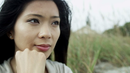 Close Up Face Young Ethnic Female Unhappy Relationship