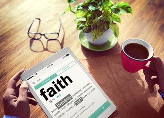 Dictionary Online Reading Definition Faith Believe Concept