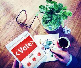 Digital Online Vote Democracy Politcs Election Concept