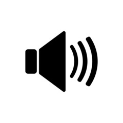 The speaker icon. Sound symbol. Flat
