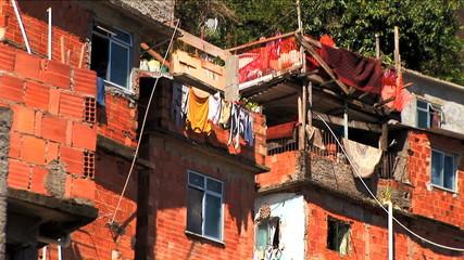 Hillside favela residential housing Urban area Rio de Janeiro Brazil