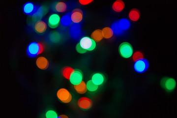 De focused lights , blur effect use for background