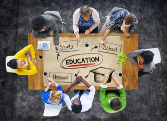 Education College Diverse Diversity Ethnicity Team Concept