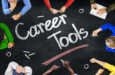 Multi-Ethnic Group of People Career Tools Concept