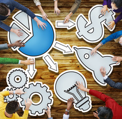 Connecting Brainstorming Business Meeting Planning Concept