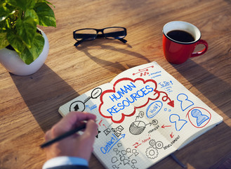 Notepad Recruitment Employment Career Human Resource Concept