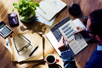 Businessman Working Balance Financial Planning Concept