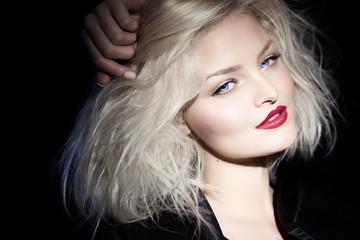 Blond Woman In Black