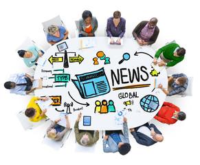 News Journalism Information Publication Update Media Concept