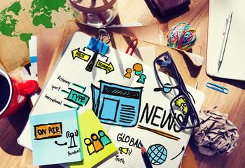 News Journalism Information Update Media Advertisement Concept