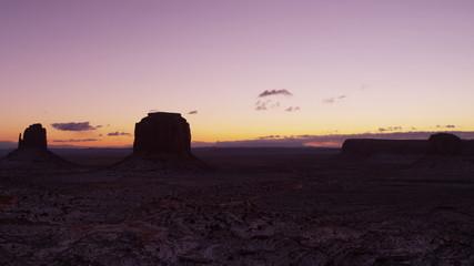 Dawn Monument Valley National Park snow Mittens panning, Arizona, USA