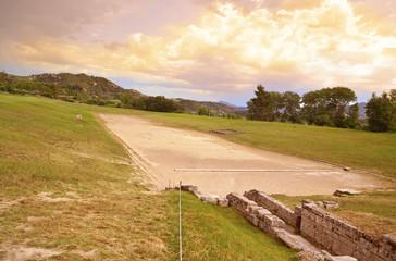 ancient Olympia stadium, Greece, Peloponnise