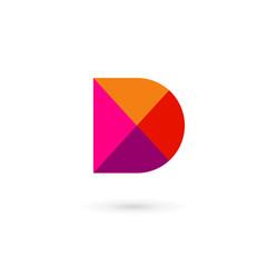 Letter D mosaic logo icon design template elements