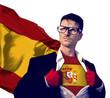 Obrazy na płótnie, fototapety, zdjęcia, fotoobrazy drukowane : Businessman Superhero Country Spain Flag Culture Power Concept