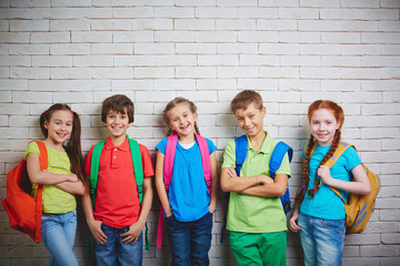 Adorable schoolkids