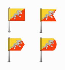 set of four flags Bhutan