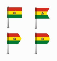 set of four flags Bolivia
