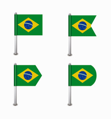 set of four flags Brazil