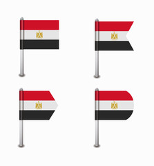 set of four flags Egypt