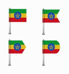 set of four flags Ethiopia