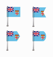 set of four flags Fiji