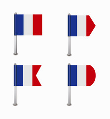 set of four flags France