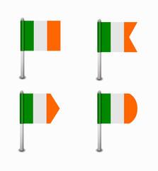 set of four flags Ireland