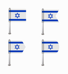 set of four flags Israel