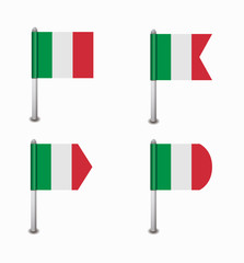 set of four flags Italy