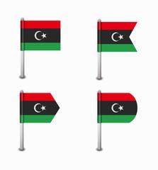 set of four flags Libya