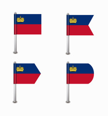 set of four flags Liechtenstein