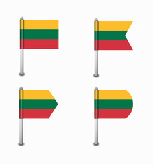 set of four flags Lithuania