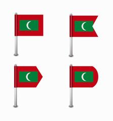 set of four flags Maldives