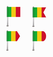 set of four flags Mali