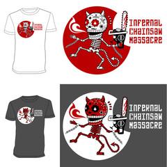 Skeletons. T-shirt. Infernal Massacre