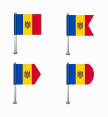 set of four flags Moldova