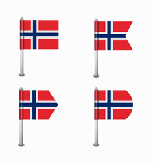 set of four flags Norway