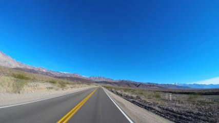 POV Death Valley driving desert landscape Wilderness Mojave Desert California USA
