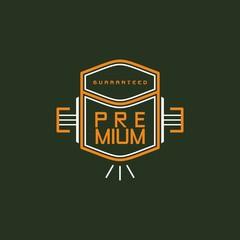 modern insignia vintage label