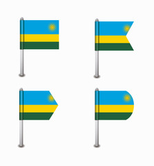set of four flags Rwanda