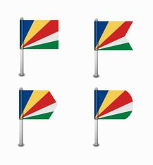 set of four flags Seychelles