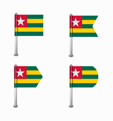 set of four flags Togo