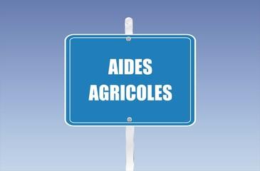 panneau aides agricoles