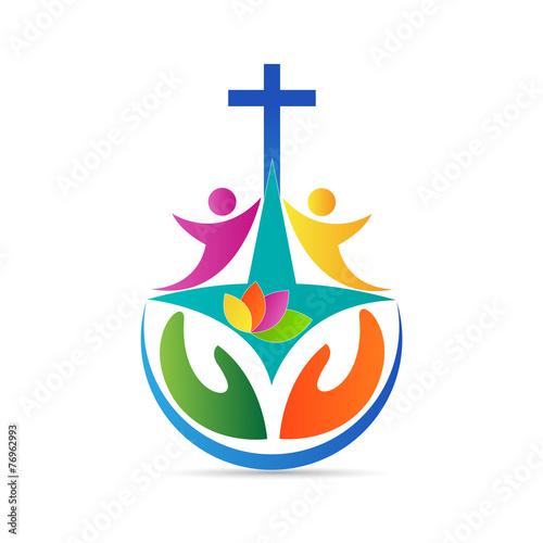 Fototapeta Church logo