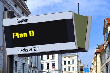 Strassenschild 27 - Plan B